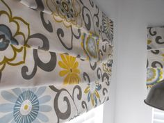 Fun Faux Roman Shades - @Alanna Tameta Randolph - this just might work in the laundry room!