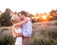 Highland Springs Lavender Field Engagement Session
