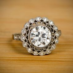 A beautiful openwork filigree vintage style engagement ring. Inspired by the rings made in the Edwardian Era.