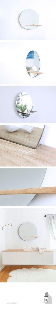 JU MIRROR SHELF: Designed by product designer and entrepreneur Ting Xiu, based in Beijing, Website: www.rioes.com