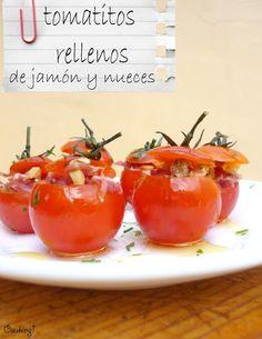 Cuuking!: #RecetaFacil: Tomatitos rellenos de jamón y nueces...