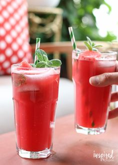 Watermelon Mojitos recipe - summer cocktail ideas - watermelon cocktail