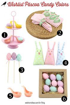 produtos de páscoa para decorar a casa e a mesa em tons candy color da villa pano.