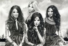 Pretty Little Liars (2010– ) ~~ Drama | Mystery | Thriller ~~ Four friends band together against an anonymous foe who threatens to reveal their darkest secrets, while unraveling the mystery of the murder of their best friend. ~~ Artwork by Lilli Keks