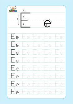 Number Words Worksheets, Free Printable Alphabet Worksheets, Free Kindergarten Worksheets, Kids Math Worksheets, Preschool Learning Activities, Preschool Education, Homeschool Kindergarten, Preschool Printables, Preschool Math