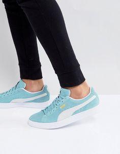 292c07cae491 Puma Suede Classic Sneakers In Green 36534708 Classic Sneakers