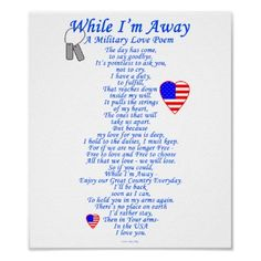 <3 When I'm Away Poem <3