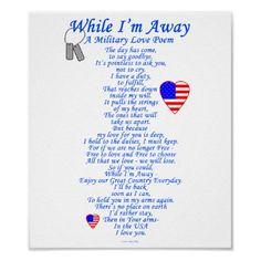 <3 When I'm Away Poem <3