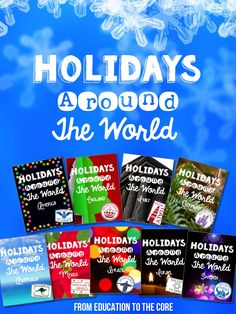 Education to the Core: Holidays/Christmas Around the World Unit and Mini-Books for 9 Countries!!!