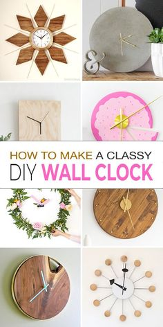 Come see how you can make these gorgeous Clocks! - Lots of ideas, projects & tutorials for you to choose from! #clockideas #diyclocks #diyclockideas #diyclockprojects #wallclocks #diywallclocks #diywallclockideas #ohmeohmy
