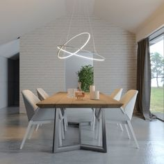 BILUCE OPPOSIT LAMPADA SOSPENSIONE CON ANELLI Table, Inspiration, House Design, Sweet Home, Furniture, Dinning Room, Interior Design, Room, Dining Table