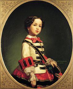 Luis de Madrazo y Kuntz. Cristina de Roncali y Gaviria, the Little Marquise of Roncali, 1858.