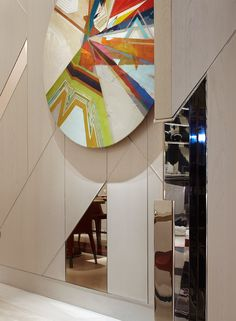 Wall art, Bellagio resort/artist Julian Serrano/Interior design by Studio Munge.