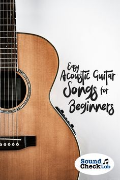 Easy Acoustic Guitar Songs for Beginners – Sound Check Lab. - Music - Easy acoustic guitar songs for beginners. Want to play some guitar quick? Check out these songs you - Acoustic Guitar Chords, Guitar Chords For Songs, Music Guitar, Cool Guitar, Playing Guitar, Ukulele, Guitar Notes, Learning Guitar, Guitar Songs For Beginners