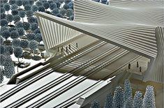 The Mediopadana Line, Architect Santiago Calatrava Parametric Architecture, Futuristic Architecture, Landscape Architecture, Interior Architecture, Chinese Architecture, Santiago Calatrava, Bridge Design, Arch Model, Urban Design