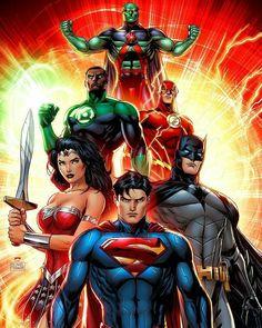 "488 curtidas, 2 comentários - Poppa Midnight (@poppamidknight) no Instagram: ""Justice League by Michael Turner"""