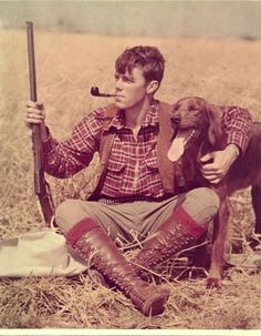 A man and his dog. Dig this look.
