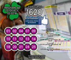 RESULTADO LOTOFACIL CONCURSO 1620 #loterias  #loteriasdacaixa  #lotofacil