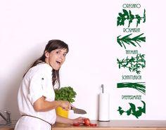 #Wandtattoo No.UL621 Tapete #Gewürze #Küche #kitchen #essen #food #kochen #Appetit