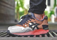 """The UBIQ x Asics Gel Lyte V """"Midnight Bloom"""" will be releasing at European sneaker shops as of May You don't see a true Asics exclusives too often on the collab tip these days if Ronnie Fieg isn't … Continue reading → Casual Sneakers, Casual Shoes, Nike Air Max 2012, Nike Runners, Nike Boots, Streetwear, Asics Gel Lyte, Marathon, Asics Shoes"""