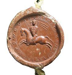 Reitersiegel Herzog Heinrichs von Schwaben, 1216, Original StAS