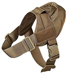 Amazon.com : Feliscanis Tactical Dog Training Patrol Harness Nylon Adjustable Service Dog Vest Brown Size S : Pet Supplies