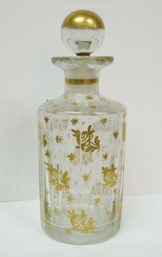 Antique French Gilt Roses Perfume Bottle
