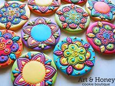 Colorfull cookies for kids Fancy Cookies, Iced Cookies, Cupcake Cookies, Sugar Cookies, Ginger Cookies, Cookie Frosting, Royal Icing Cookies, Flower Cookies, Cookie Designs