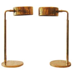 Pair of  Marine Table / Desk Lamps | From a unique collection of antique and modern table lamps at http://www.1stdibs.com/furniture/lighting/table-lamps/