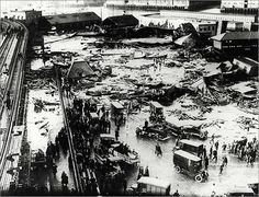 A giant tank of molasses in the North End ruptured on January 15, 1919, sending a flash flood of millions of gallons of sticky goo across the neighborhood.