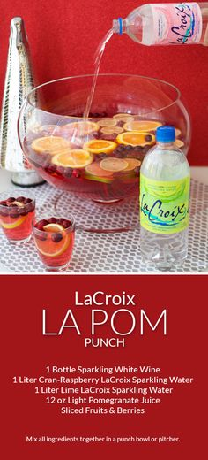 Serve Skinny LaCroix LaPom Punch at your next holiday party! ad