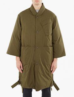 OAMC,Khaki Down-Filled Reversible Officer Coat,GREEN,0