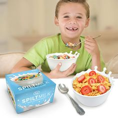 1. bad photoshop job. 2. is the kid missing teeth cause his parents feed him a serving size of sugary cereal more fitting for 5 adults?? o_O