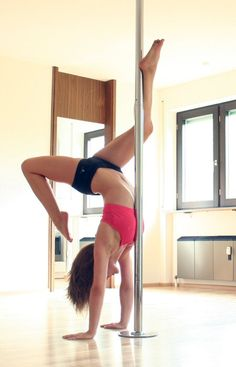 Learn How To Pole Dance From Home With Amber's Pole Dancing Course. Why Pay More For Pricy Pole Dance Schools? Pole Dancing Quotes, Dance Quotes, Handstand, Video Pole Dance, Pole Dance Fitness, Barre Fitness, Fitness Fun, Fitness Exercises, Gym Workouts