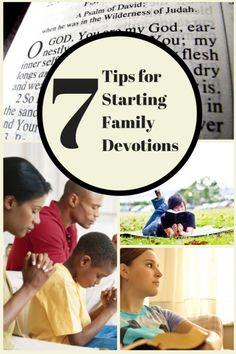 7 Tips for Starting Family Devotions