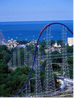 Millennium Force at Cedar Point. Must go back and ride this again - favorite coaster EVER. :)