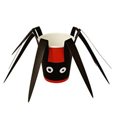 These spooky spider paper cups are perfect for Trick or Treat. They come with a…