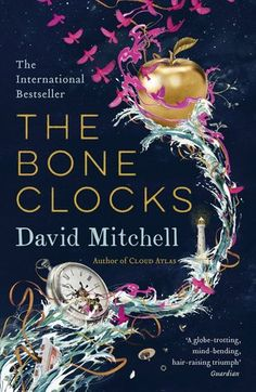 """The Bone Clocks, David Mitchell. August 2015 (Pin # 200 on the board """"The Library""""!)"""