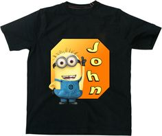 Personalized Despicable Me Name T-shirt Boys XS S M L XL. $14.99, via Etsy.