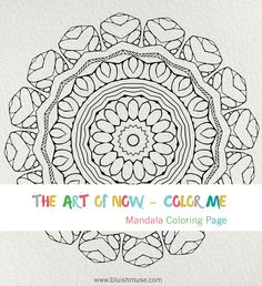 Mandala Coloring Page #0046 | Bluishmuse