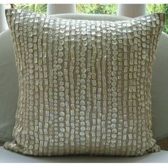 Ordered.Purely Pearls  Throw Pillow Covers  16x16 Inches by TheHomeCentric, $39.90