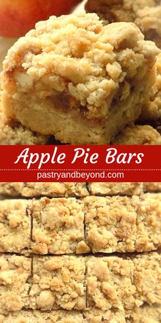 Apple Pie Bars Recipe-This delicious apple pie bars recipe with crumb topping is., Pie Bars Recipe-This delicious apple pie bars recipe with crumb topping is crunchy and soft. You'll use the same shortbread dough for the crust . Apple Pie Cookies, Apple Pie Bars, Apple Bread, Apple Slab Pie, Candy Apple Bars, Apple Pie Muffins, Apple Pie Cupcakes, Cheese Cookies, Bar Cookies