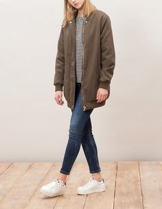 Bomber coat with plush lining - BOMBERS - WOMAN | Stradivarius Other Countries