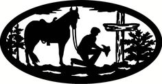 Cowboy Kneeling at Cross | cowboy in prayer at cross