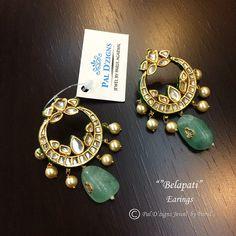 Pal D'zigns Jewelry Head Jewelry, Royal Jewelry, India Jewelry, Emerald Jewelry, Pearl Necklace Designs, Imitation Jewelry, Wedding Jewelry, Bridal Jewellery, Fashion Earrings