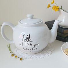 """""""Hello... Is It Tea You're Looking For?: Teapot by Mr. Teacup: Not On The High Street"""
