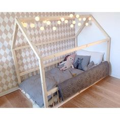 Hussäng/Lekhus EMMA Baby Room, Toddler Bed, Diy, Furniture, Home Decor, Quartos, Cosy House, Toy House, Scandinavian Design