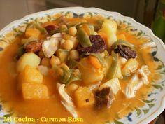 Mi cocina: BERZA DE CALABAZA, PAPAS Y HABICHUELAS VERDES (2ª ...