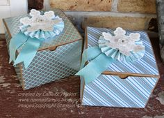 Beautiful boxes with Winter Frost Designer Series Paper  || Stampin' with Nanna