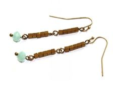 Earrings - Bronze/gold/turquoise / Chapter 42